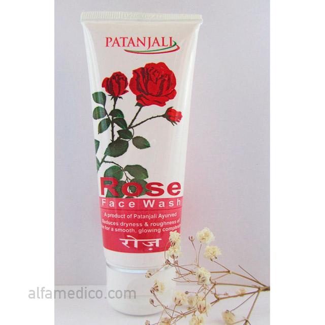 Гель для умывания с натуральными экстрактами Розы (Patanjali Rose Facewash) 60 г