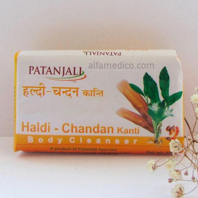 Аюрведическое мыло Patanjali Haldi-Chandan Kanti, 75 г