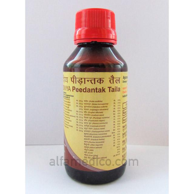 Аюрведическое масло для лечения суставов DIVYA Peedantak Taila, 100 мл