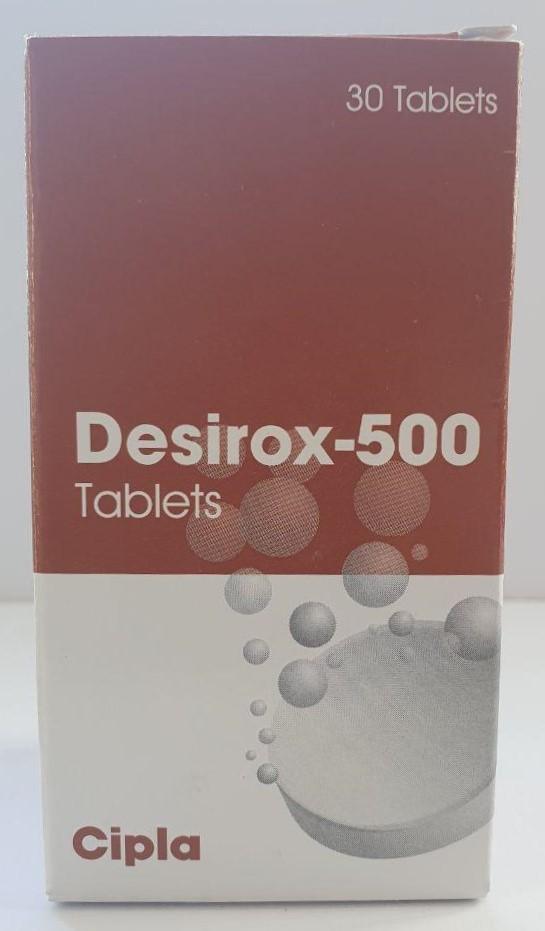 Deferasirox Desirox 500 mg Tablets