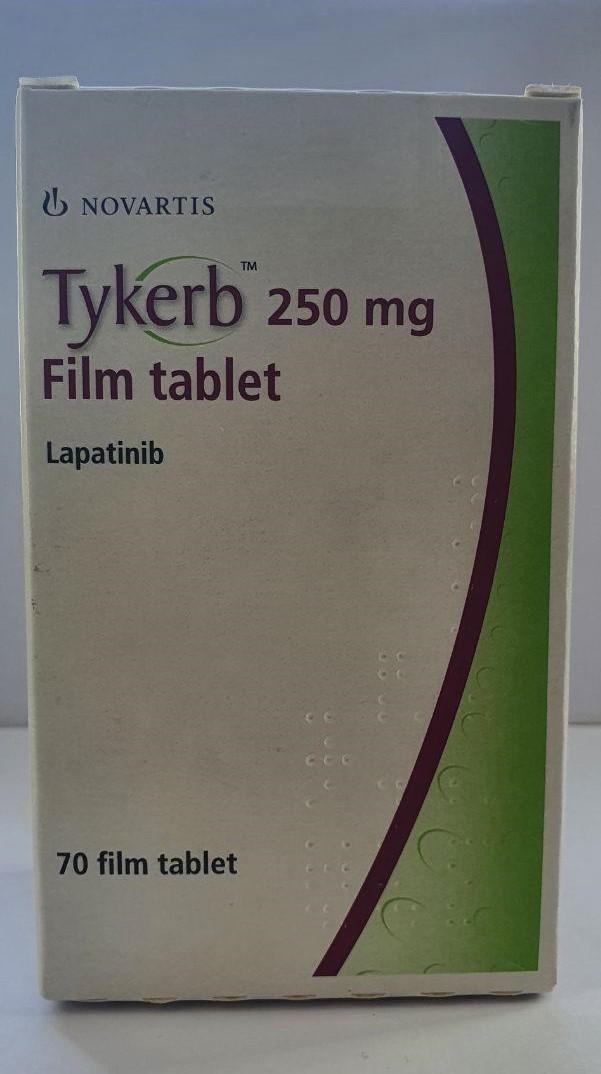 Тайкерб Лапатиниб (Tykerb Lapatinib) 250 мг